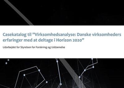 Casekatalog til virksomhedsanalyse af Danske virksomheders deltagelse i Horizon 2020
