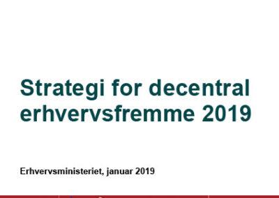 Strategi for decentral erhvervsfremme 2019