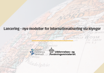 Lancering – nye modeller for internationalisering via klynger